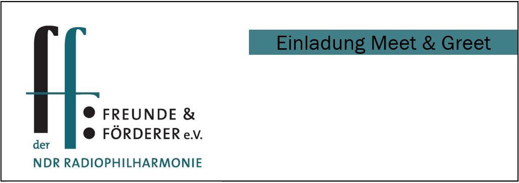 Die Freunde der NDR Radiophilharmonie stellen die Einladung zum Meet and Greet vor.